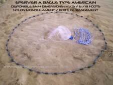 Filet de pêche épervier (4 dimensions) - Fishing cast net american style