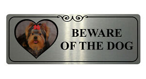 174 BEWARE OF DOG Personalised Photo Metal Aluminium Plaque Sign Door Gate Wall