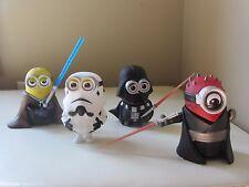 Star Wars Despicable me Minions set of 4(Jedi,DarthVader,StormTrooper,DarthMaul)