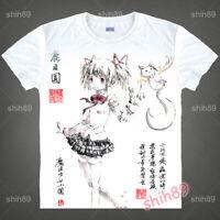 Anime Puella Magi Madoka Magica T-shirt Short Sleeve Unisex Tops Ink Print