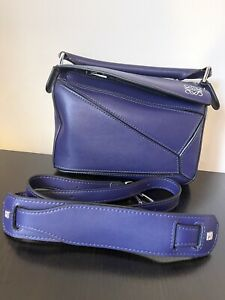 Authentic LOEWE Small Puzzle Bag in Calfskin Leather