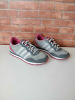 GIRL'S KIDS ADIDAS NEO GREY AND PINKTRAINERS SNEAKERS UK 3 EU 35.5 SHOES