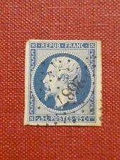 FRANCE 1852 25c dp dull blue Napoleon B under bust Barre 4 margin imperf  SG 38
