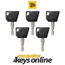 JCB 14607 (Set Of 5) Excavator Key,Bomag, Wacker Nueson, Hamm, Excavator Grader