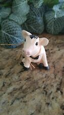 """PIG FIGURINE SMALL 3"""" RESIN, OLD STOCK ...Collectible"""