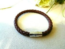 New Bracelet Clip-On Brown Silver Tone Jewelry US Seller Stock