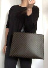 Authentic CELINE Signature BLACK bag Purse Tote Leather