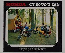 1978 HONDA CT90 CT70 Z50A New SALES BROCHURE Vintage Minibike Motorcycle Z50