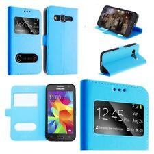 Etui Housse Coque Pochette View Case Bleu Turquoise pour Samsung Galaxy A5 2017