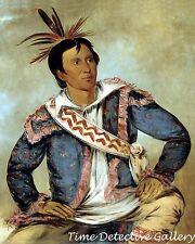 Ha-tchoo-tuc-knee, a Choctaw by George Catlin - 1834 - Native American Art Print