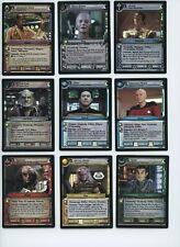 Star Trek CCG 10th Anniversary Foil Set (18 cards) With X RARE Decipher