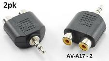 2pk 3.5mm Stereo Male to 2RCA Female Audio Adapter