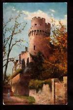 tuck caesars tower warwick castle uk postcard