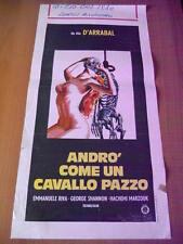 Locandina ANDRO' COME UN CAVALLO PAZZO 1975 Fernando Arrabal, Emmanuele Riva