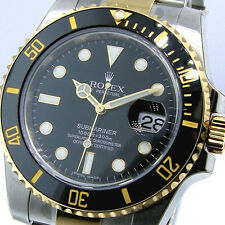 UNWORN ROLEX SUBMARINER 116613 BLACK DIAL TWO TONE CERAMIC BEZEL 116613