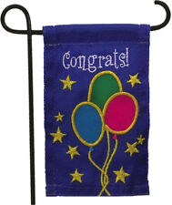 MINI GARDEN FLAG FOR FLOWER POT - CONGRATS! - JEANE'S THINGS