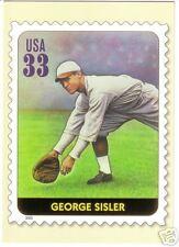 George Sisler, Browns: Usps All-Century Team postcard