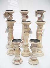 Wooden Church Candle Candelabras Light Holders