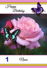 Free P/P-Tarjetas De Mariposa - (12 para elegir) cualquier ocasión-Personalizado