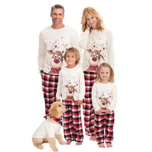 Christmas Pyjamas Family Matching Adult Xmas Nightwear Festive Pajamas PJs Sets