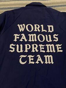 Supreme World Famous Coaches Jacket Size M dark royal blue FW20