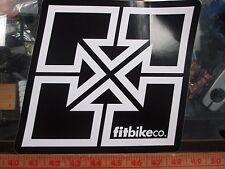 """FIT RAMP STICKER 8"""" sq BMX BIKE keylogo STICKIE Fit Ramps rails trails wall ride"""