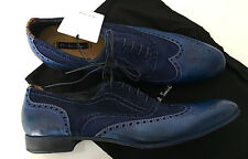 Paul Smith DIP DYE Blue Miller Brogues Leather WingTip UK7 / UK7.5 EU41 / 41.5