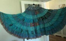 Impresionante Azul-varios niveles de danza del vientre falda Banjara Tribal Gratis * Gypsy Folk Tamaño