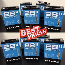 BEST PRICE!! 10x Impac removable core Inner Tubes. 60mm valve length. 700x20-28c