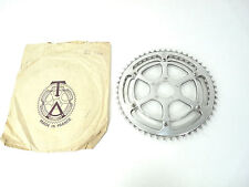 "TA Chainring Set double crankset with 5pin adapter 52/46T 3/32"" Vintage Bike NOS"