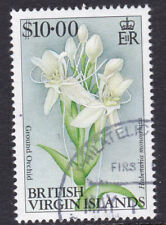 British Virgin Islands 1992 Used Part Set Definitive Flowers Ground Orchid $10