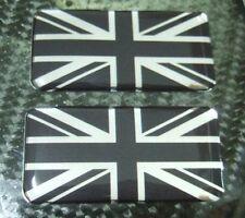 2x Black UK Union Jack Flag Badge emblem fit BMW fender