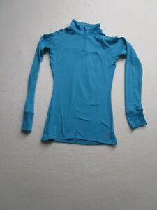 Under Armour Womens Fitted XS Blue Long Sleeve 1/4 Zip High Neck Running Shirt