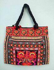 Hand Embroidered Bag Thai Hmong Hill Tribe Unique Shoulder Handmade Boho Fabric