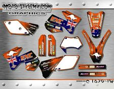 KTM EXC 125 200 250 300 450 525 2005 up to 2007 graphics decals kit