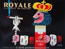 ROYALE CIGARETTES BY HERVE MORVAN C 1960 ON LINEN ORIGINAL FRECNH POSTER