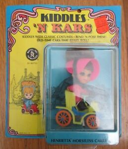 Vintage 1968 Liddle Kiddles 'N Kars Henrietta Horseless Carriage # 3641 MOC NRFP