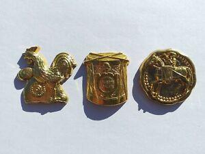 Série complète de fèves DALLOYAU Révolution METAL doré * 15-77