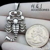MEN/'s Stainless Steel Silver Black 3D EAGLE Charm Pendant*P95