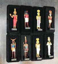 x8 The Gods of Ancient Egypt Resin Figures HATCHETTE isis RA amon HATHOR etc