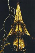 Postcard Set of 10 Eiffel Tower Lightning Paris France 2010 Fine Color Post Card
