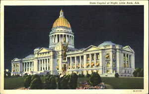 State Capitol Little Rock Arkansas night scene HOT SPRINGS NATL PARK AR  1941