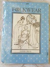 1981 Folkwear Pattern #215 Empire Dress - Uncut sewing costume period