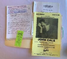 John Cale Concert Contract 1995 Pittsburgh
