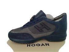 HOGAN INTERACTIVE MENS TRAINERS/SNEAKERS NAVY/GREY/NAVY - BRAND NEW WITH TAGS