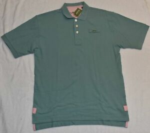 Men's Orvis Signature Polo Shirt, Small, New With Tags, Teal M Medium