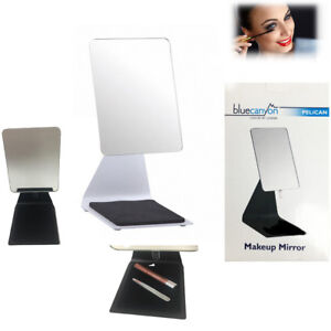 Free Standing Make Up Mirror Bathroom Pelican Cheval Dressing Table Top 19x14cm