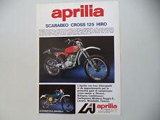 advertising Pubblicità 1976 MOTO APRILIA SCARABEO CROSS 125 HIRO