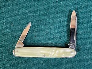 Boker 8465 Folding Pocket Pen Knife with Cracked Ice Handle, Excellent