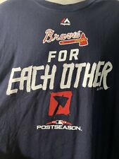 Majestic Mlb Atlanta Braves 2Xl T-shirt For Each Other Post Season 2018